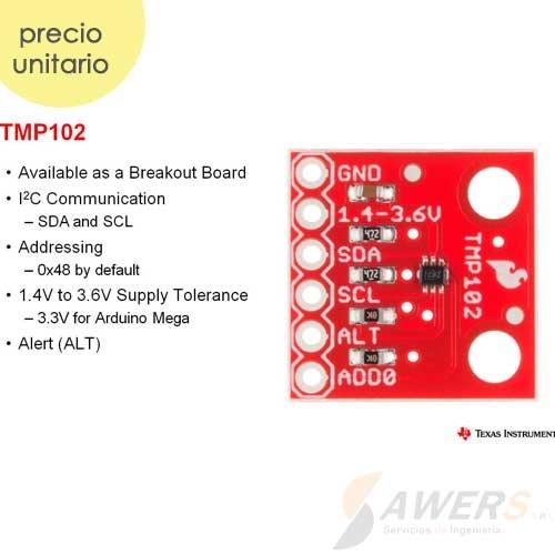 TMP102 Sensor de Temperatura digital 3.3V 85C