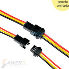Cable conector JST SM2.54 3P (M-H)