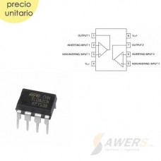 TL082 Dual OP-AMP JFET-input bajo ruido 3Mhz