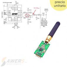 CC1101 Modulo Tranceptor 433MHz con antena