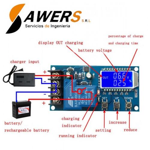 Controlador de Carga de Bateria Lead-Acid 60V 30A