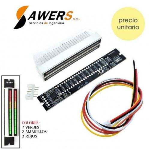 VUmetro indicador de nivel de audio 12-leds Stereo