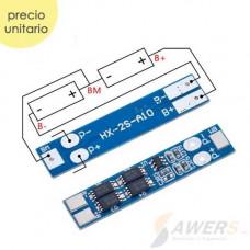 BMS Circuito de carga y descarga 2S 8.4V 8A 18650