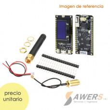 TTGO LORA32 V2.0 ESP32-SX1276-OLED 915Mhz antena externa