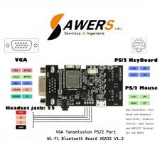TTGO VGA32 V1.1 Controlador de Mouse y Teclado PS/2