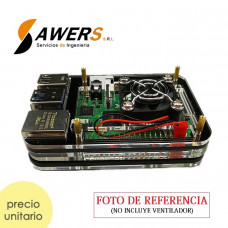 Case Acrilico Rainbow Deluxe Raspberry PI 4