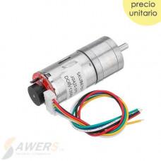 Motorreductor JGA25-370 6V 120RPM con encoder