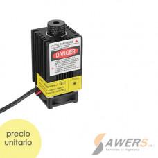 Modulo Laser 500mW 405nm lente ajustable 12V PWM TTL