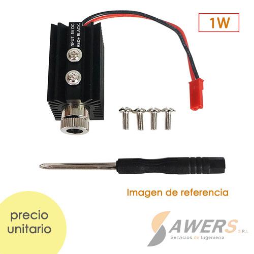 Modulo Laser 1W 405nm con lente Ajustable 5V