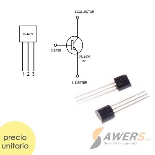 2N4403 Transistor PNP 40V 200Mhz 100Hfe