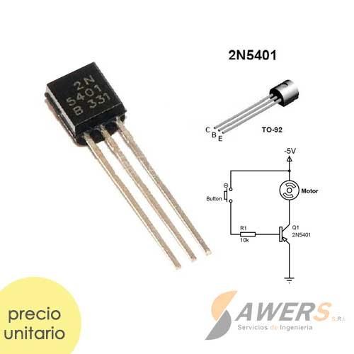 2N5401 Transistor PNP 150V 50hFE