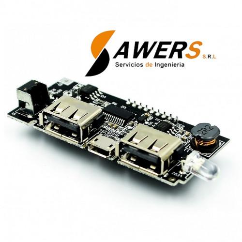 Modulo de Carga 18650 dual USB 5V