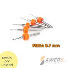 Fresa CNC Para Perforacion 0.9mm
