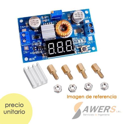 XL4015 Step-Down 32V-5A con voltimetro-amperimetro