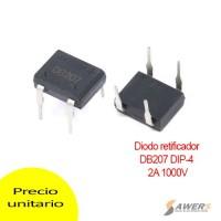 DB207 Diodo puente rectificador 2A 1000V