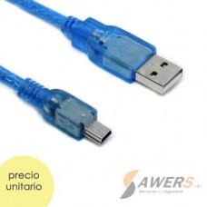 Cable USB a Mini USB 30CM para Arduino NANO