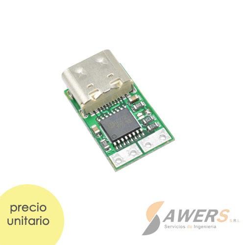 Modulo de Carga Rapida USB-PD 2.0 Tipo C 20V 5A