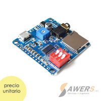 Reproductor MP3 UART Programable con bluetooth y SD