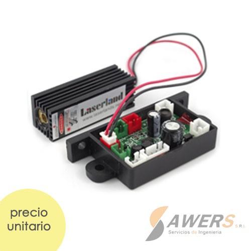 Modulo laser 150mW 655nm con lente ajustable TTL 12V