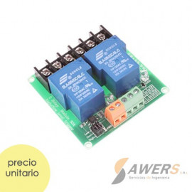 Modulo Relay de potencia  5V 2CH 250VAC 30A