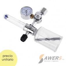Kit Manometro, humidificador y regulador de oxigeno 10L