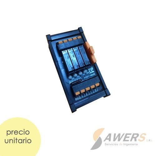 Modulo Relay 4CH 12VDC NPN-PNP para PLC Riel Din