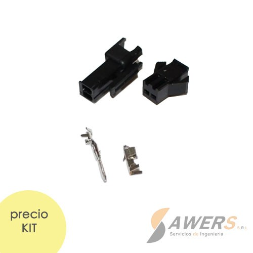 Conector JST SM2.54 2P (M-H)