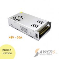 Fuente Switching 48V-20A-960W 220VAC