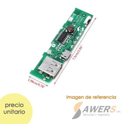 Modulo de Carga PowerBank Li-ion 3.6V a 5V-2A 18650