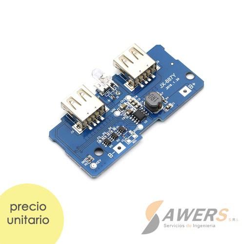 Modulo de Carga 18650 con salida Dual USB 5V 2A