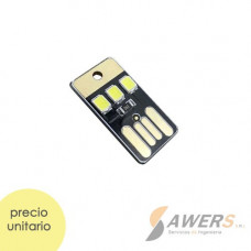 Mini Linterna LED USB llavero