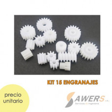 Kit educativo de 15 mini poleas plasticas