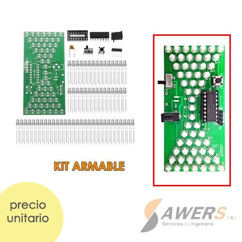 Reloj de Arena Electronico ajustable (kit para soldar)