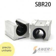 SBR20UU Cojinete Lineal Abierto