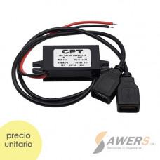 Modulo de carga de 12V a 5V-3A salida dual USB