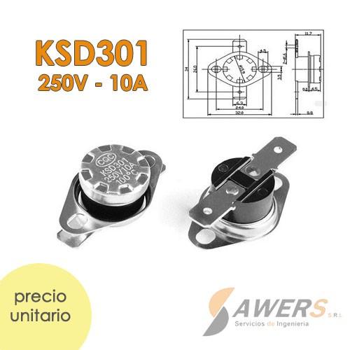 Fusible termico KSD301 220VAC-10A 80C