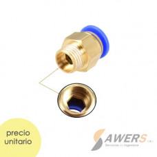 PC6-01 Antirretorno Neumatico ID-6mm Rosca 10mm