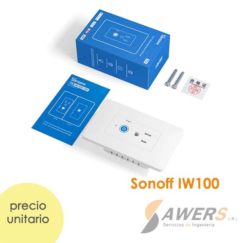 Sonoff IW100 Enchufe-Interruptor de Pared WiFi 110VAC 15A