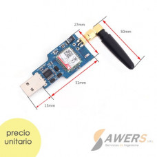 SIM800C USB Serial Quad-Band GSM/GPRS (antena)