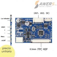 Controlador Universal de pantalla LCD 40P 0.5MM FPC