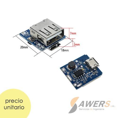 Placa de proteccion Li-ion 18650 USB/Micro USB