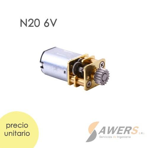 Micro Motorreductor N20 para lapiz 3D 6V 500rpm