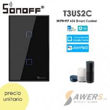 Sonoff Touch T3US2C (Interruptor de Luz Tactil WiFi-RF 2020)