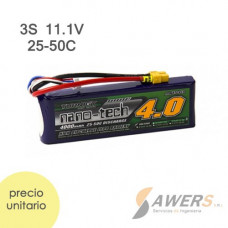 Bateria Lipo 11.1V 4000mAh 3S 25-50C Turnigy Nano-Tech