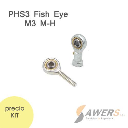 Cojinete de extremo PHS3 Fish Eye M3 (Kit M-H)