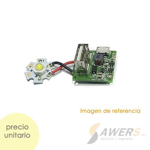 Modulo de Carga PowerBank 18650 con Lampara