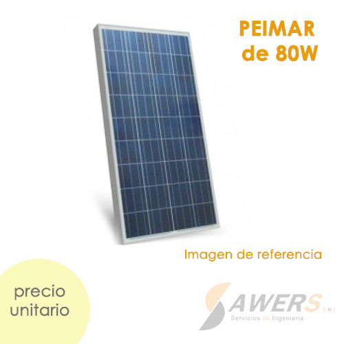 Panel Solar 930x674x35mm 80W Policristalino