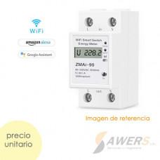 Medidor de Potencia 220VAC-60A Tuya Smart Wifi