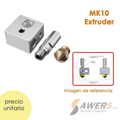 Kit de extrusora MK10 Boquilla 0.4 mm
