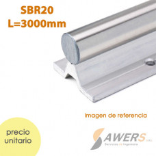 SBR20 Riel Lineal d=20mm L=300cm
